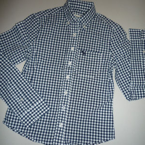 Abercrombie Kids Blue & White LS Shirt, sz S